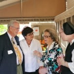 Sr. Jane McKinley (center right) welcomes guests at the March 26, 2017 Garden Party in New Orleans. All photos provided by Paul D. Mankovich